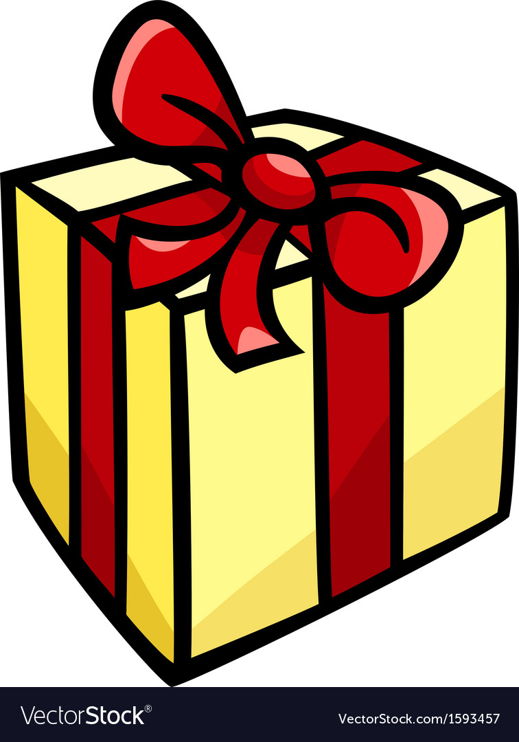 Christmas or birthday gift clip art.