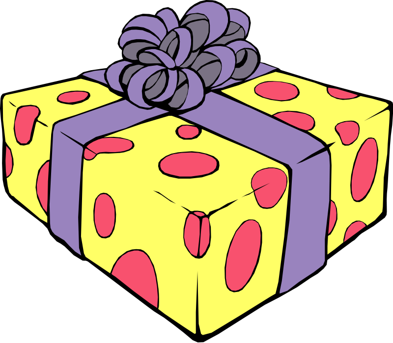 Birthday Present Clip Art.