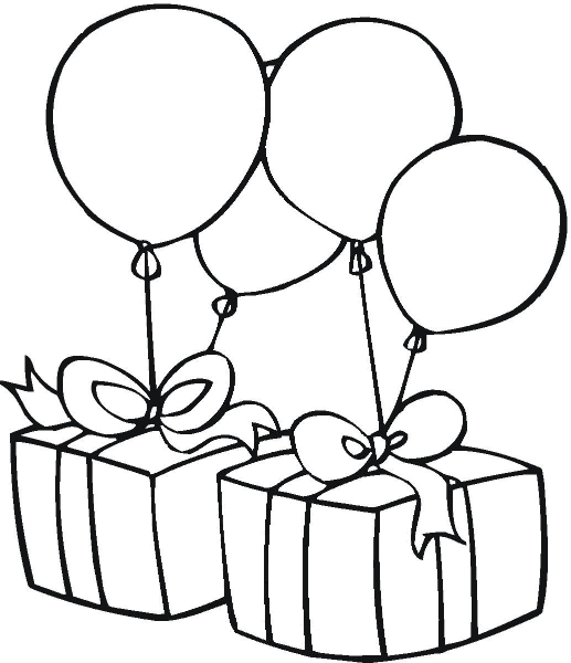 birthday present clipart black and white Archives.