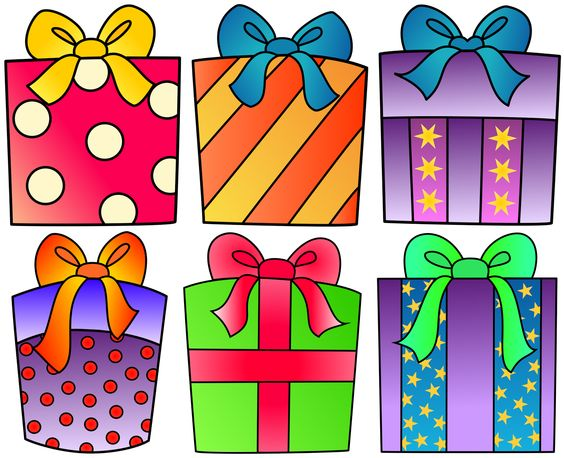 Birthday present clipart for your project or free.
