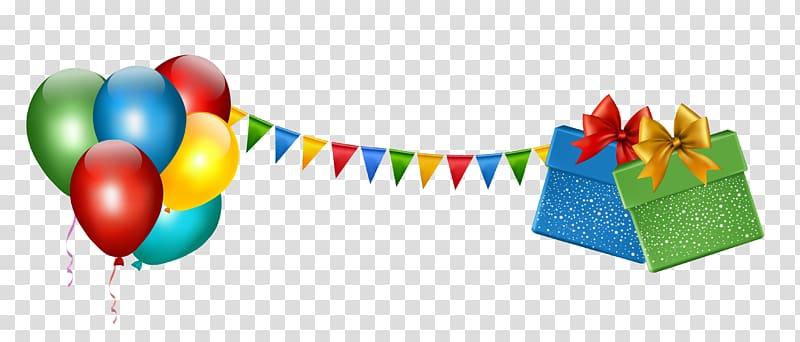 Birthday Party , Party Decoration with Gifts and Balloons.