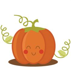 Cute Little Pumpkin Clipart.