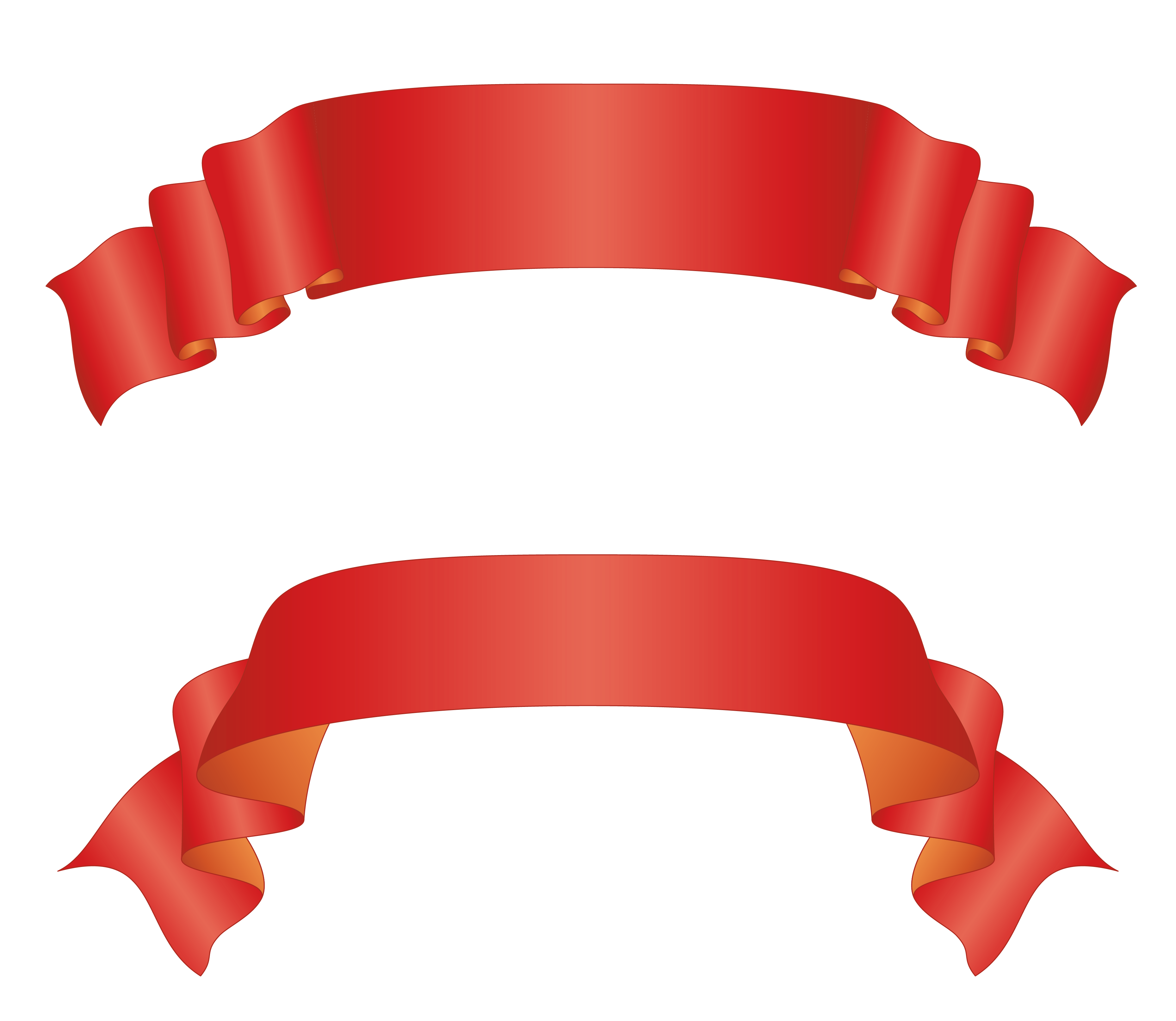 Ribbon Banner Clipart No Background.