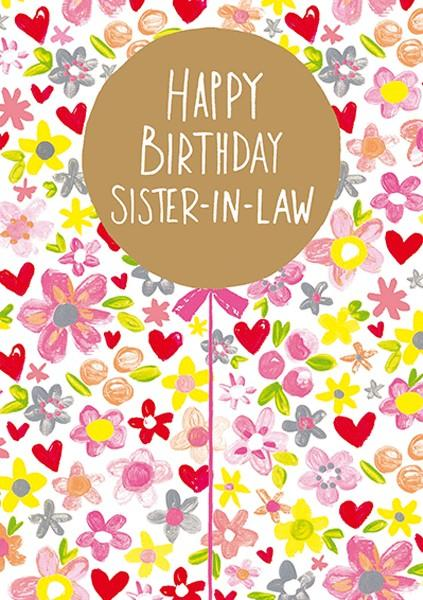 Happy Birthday Sister In Law Clipart.