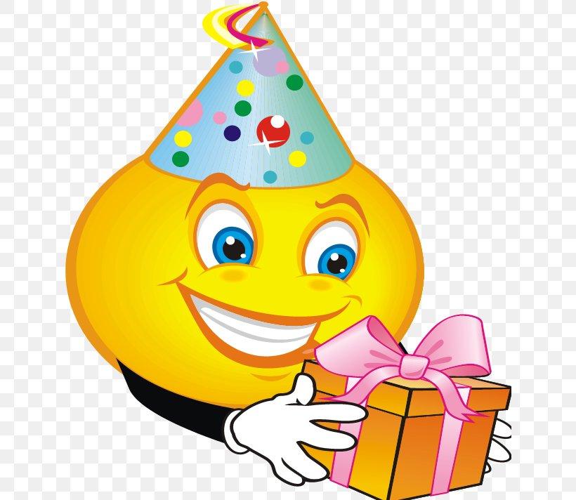 Smiley Emoticon Birthday Emoji Clip Art, PNG, 637x712px.