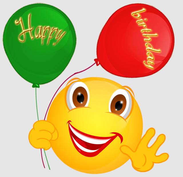 happy birthday smiley emoticons: happy birthday smiley.