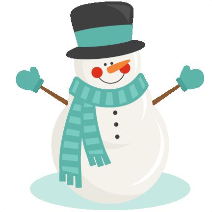 Clipart Snowman Cute.