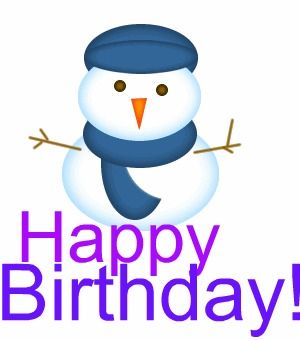 Birthday Snowman Clipart Cute.
