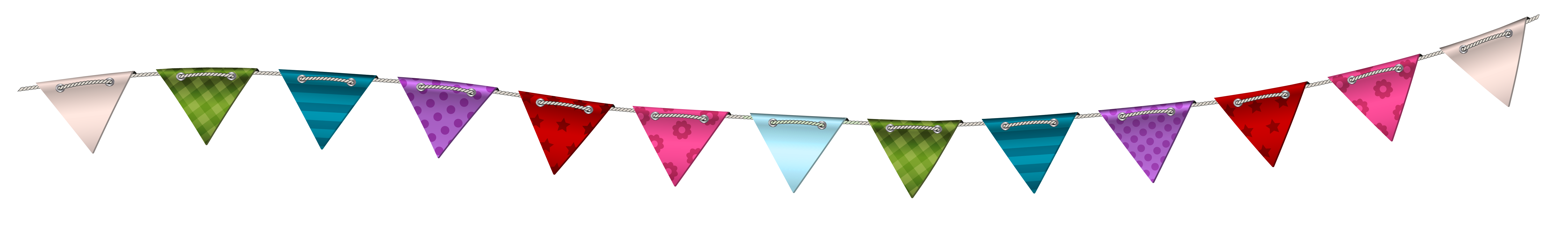 Transparent Party Streamer PNG Clip Art Image.