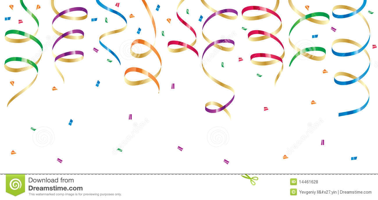 Gold Streamers Clipart#2188325.