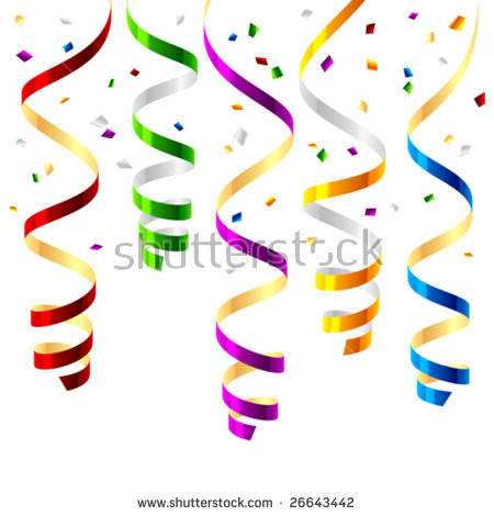 Party Streamers Stock Images, Royalty.