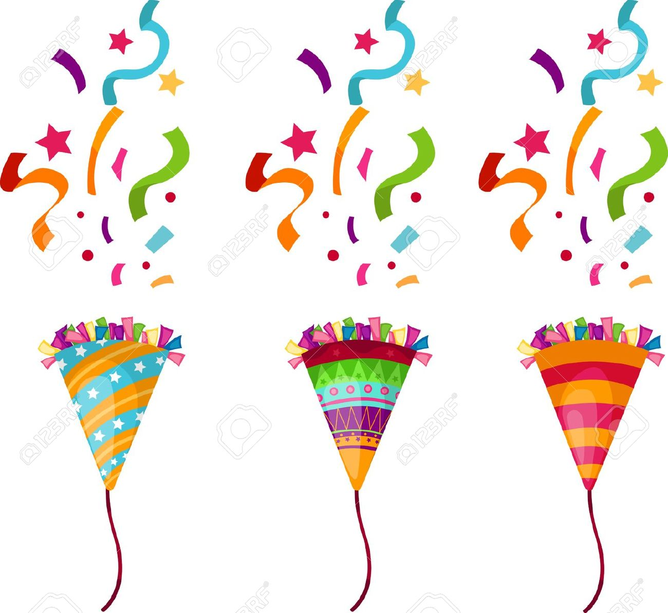 party streamers clipart clipground