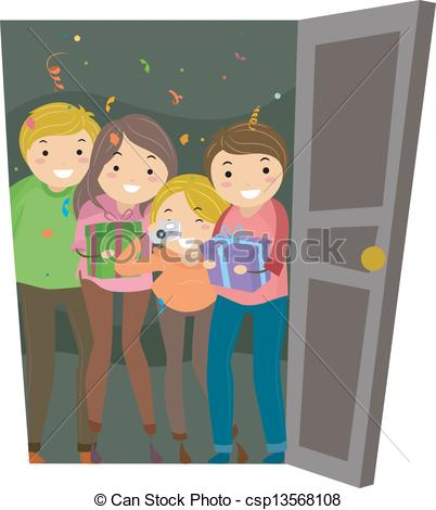 Surprise party Illustrations and Clipart. 43,919 Surprise party.