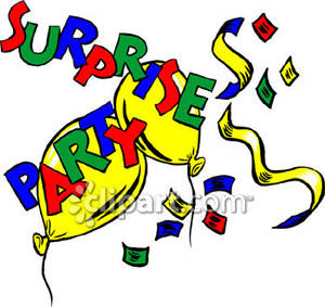 Surprise Birthday Party Clip Art.