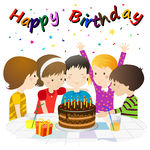 Surprise birthday party clipart.