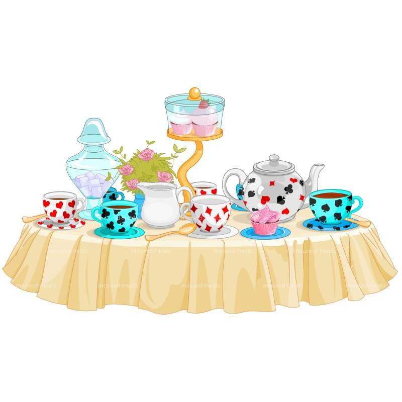 Party table clipart.