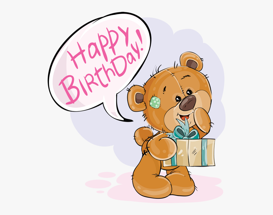 Teddy Bear Clipart Happy Birthday.