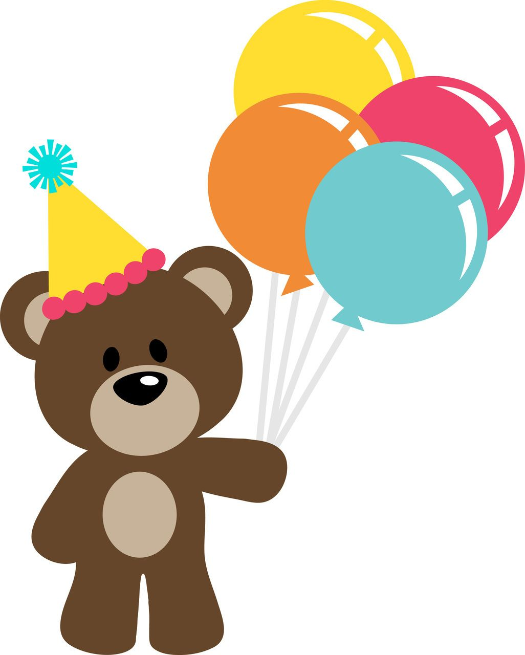 Teddy Bear Birthday Clipart.
