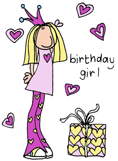 Birthday girl #teen #clipart #patterns #colored #paintpatterns.