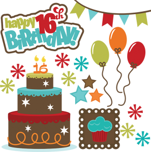 Happy 16th Birthday SVG files for cutting machines teen svg files.