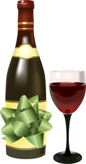 Birthday Wine Clipart.