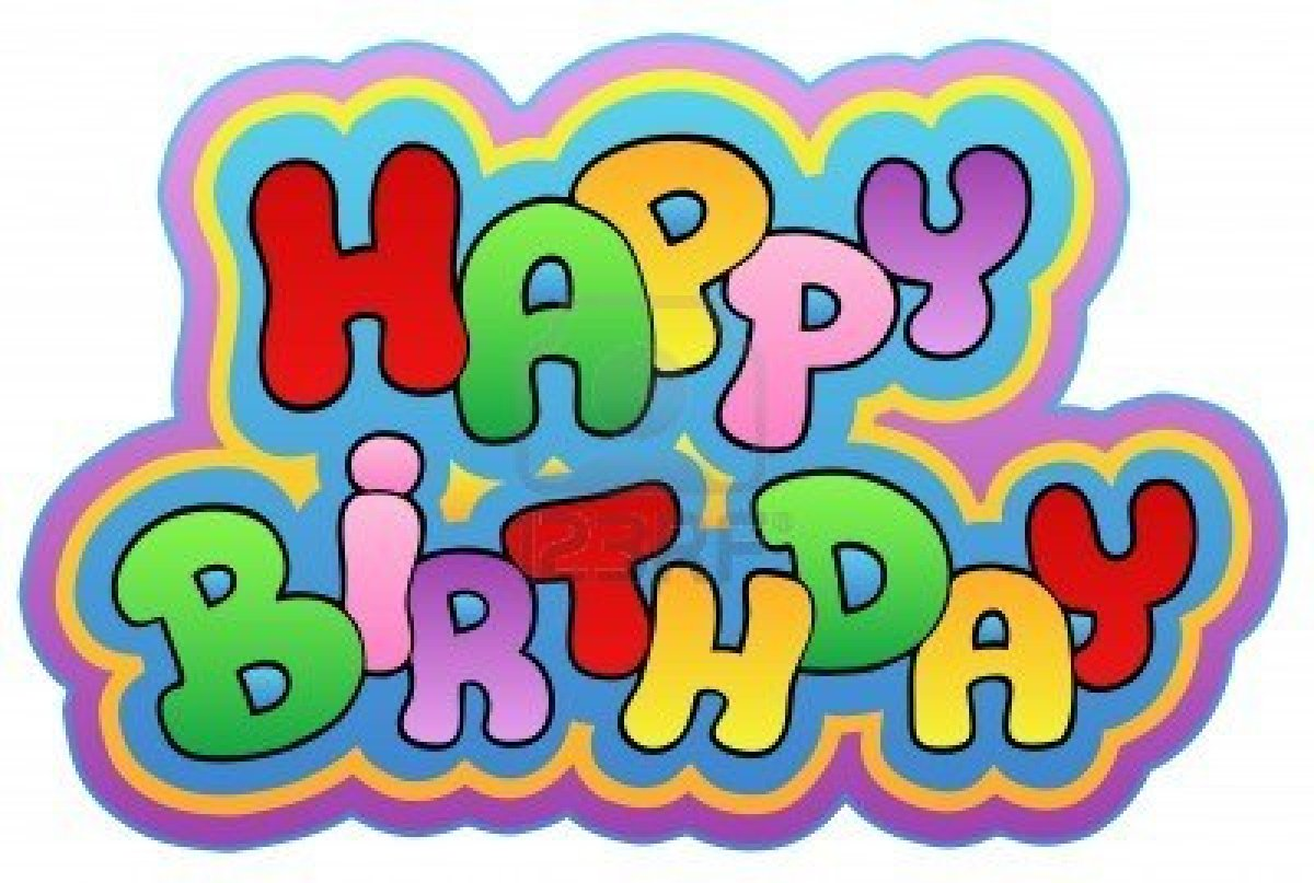 Happy Birthday Wishes Clip Art N2 free image.