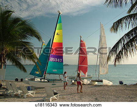 Stock Photo of Key Biscayne, Miami, FL, Florida, Virginia Key.