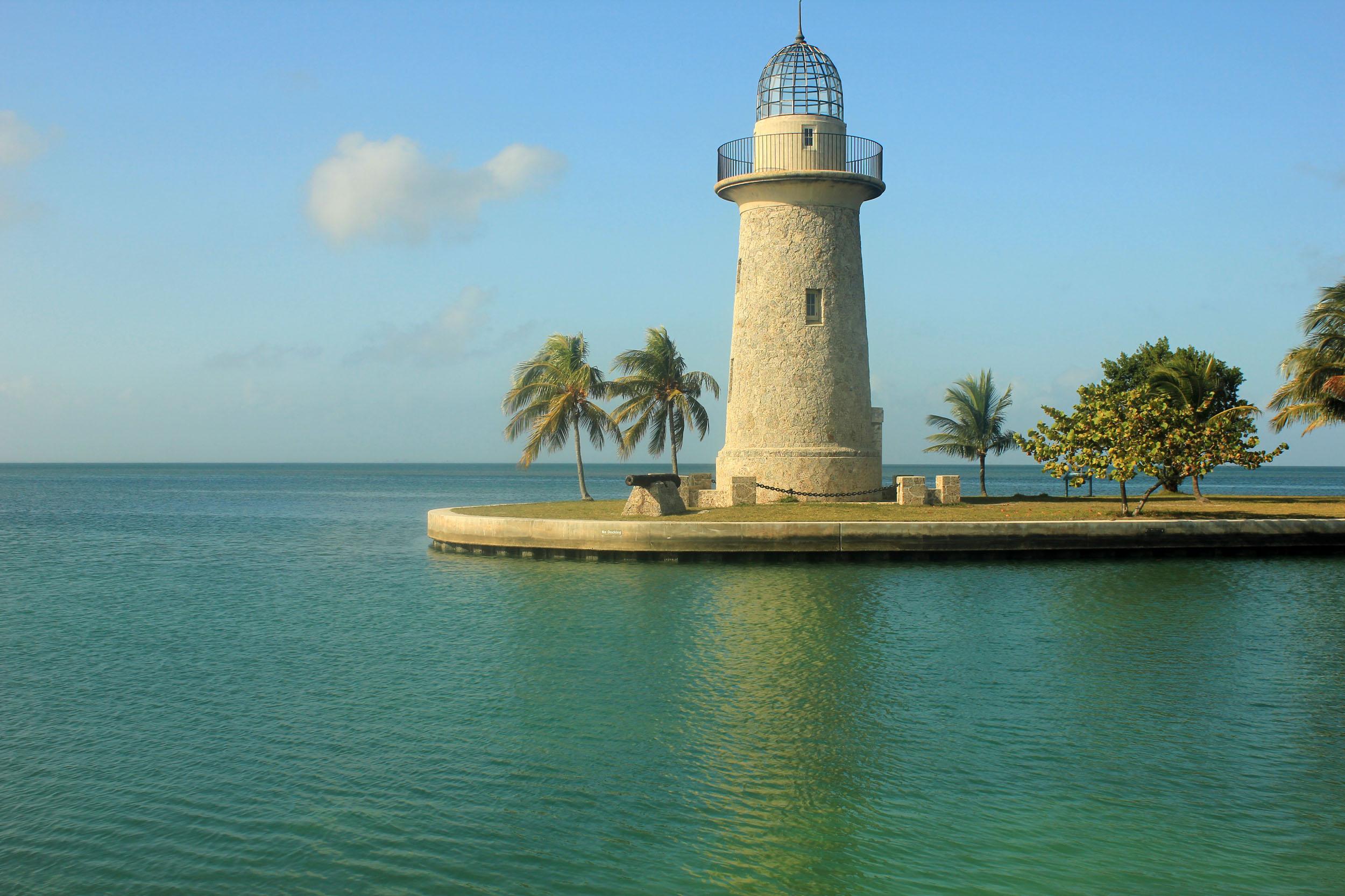 Lighthouse at Biscayne National Park, Florida.