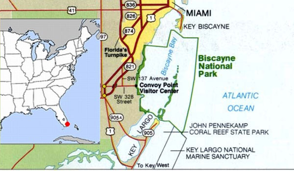 The 58 National Parks in the USA: Big Bend and Biscayne.
