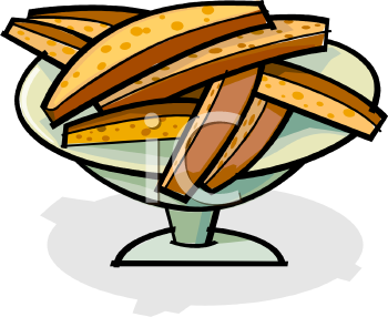 Royalty Free Clip Art Image: Pieces of Biscotti.