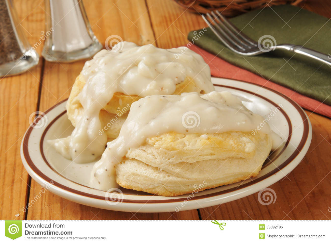 Biscuits And Gravy Stock Vector.