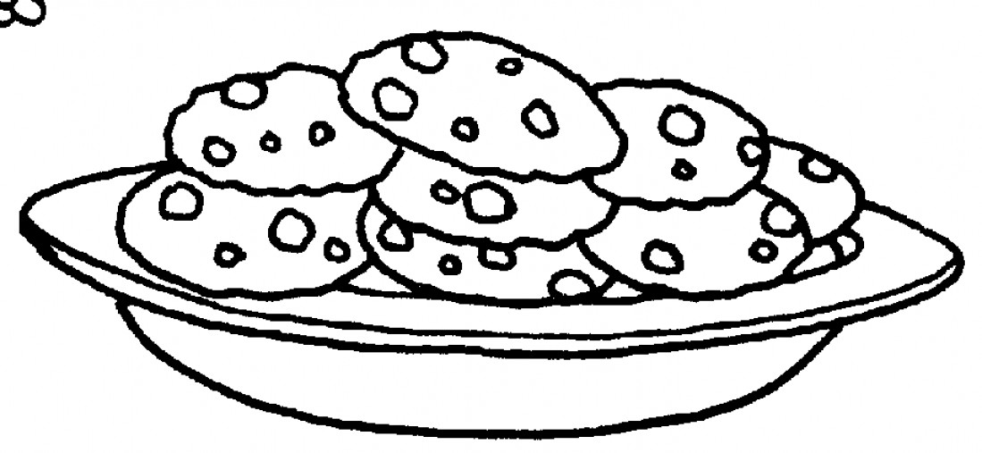 Biscuit Clipart Black And White.