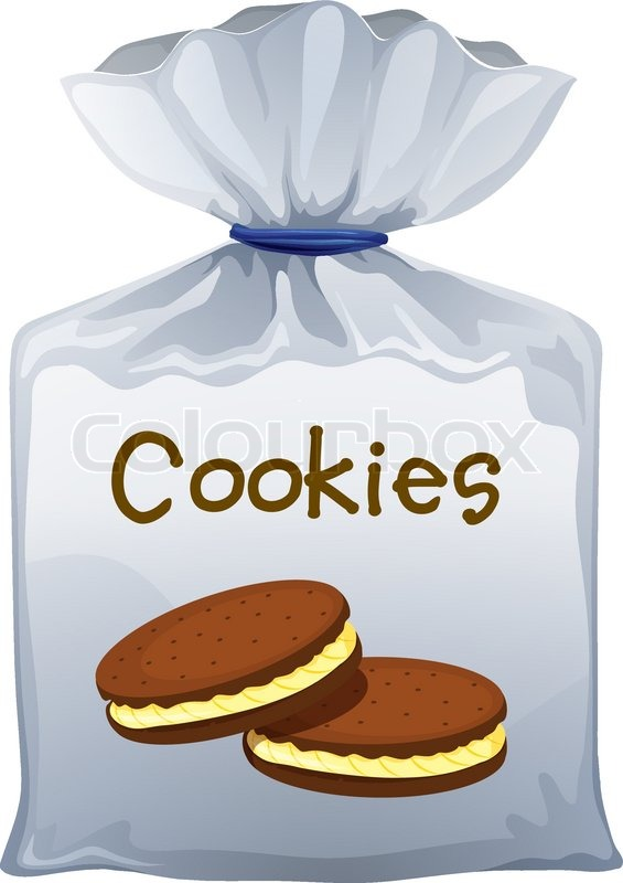 Bag Of Cookies Clipart.