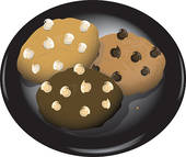 Stock Illustration of Chocolate chip cookies k1145705.