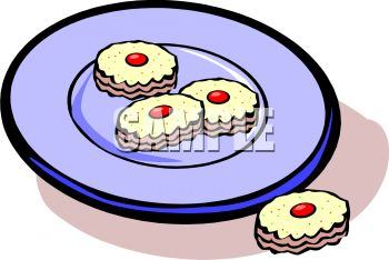 Clip Art Image of Cookies On a Plate.