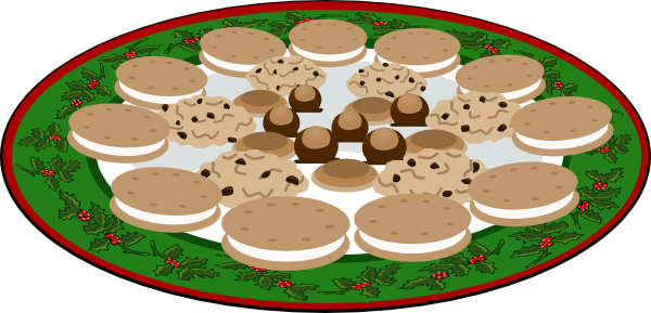 Clip Art Plate Of Cookies Clipart.