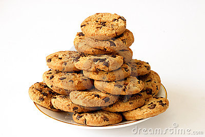 Plate Of Cookies Royalty Free Stock Photography.