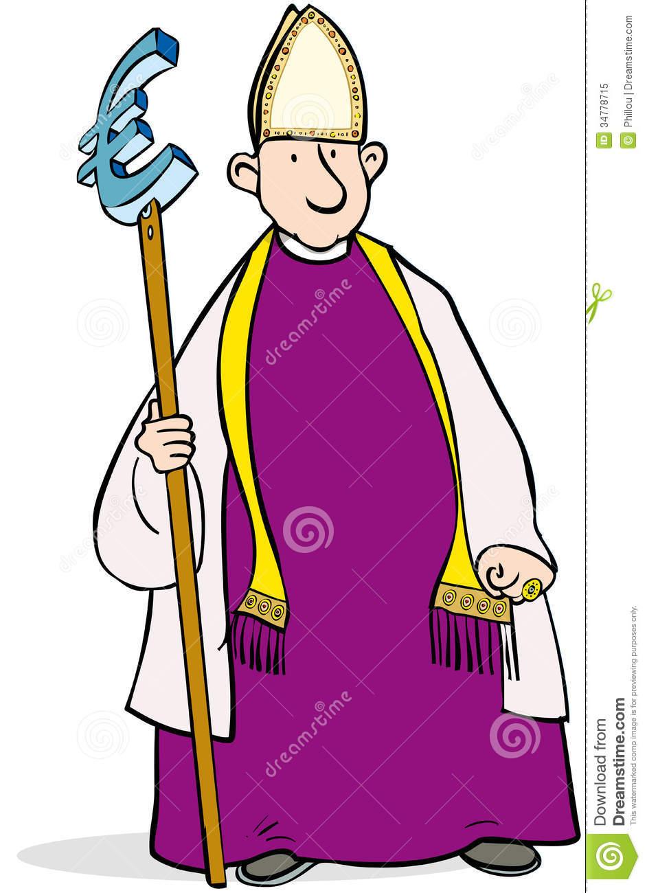 Euro Bishop Royalty Free Stock Photo.