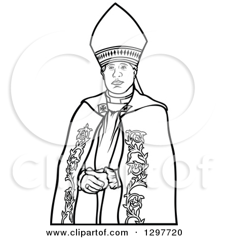 Clipart of a Bishop in Gold.