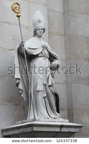 St Vergilius Salzburg Catholic Bishop Statue Stock Photo 44135572.