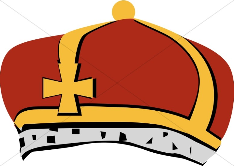 Red and Grey Bishop's Crown.
