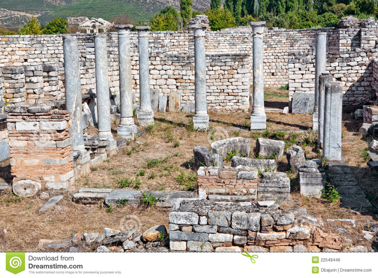 Bishop's Palace In Aphrodisias Royalty Free Stock Image.