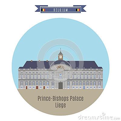 Prince Bishop Palace Liege Belgium Stock Illustrations.