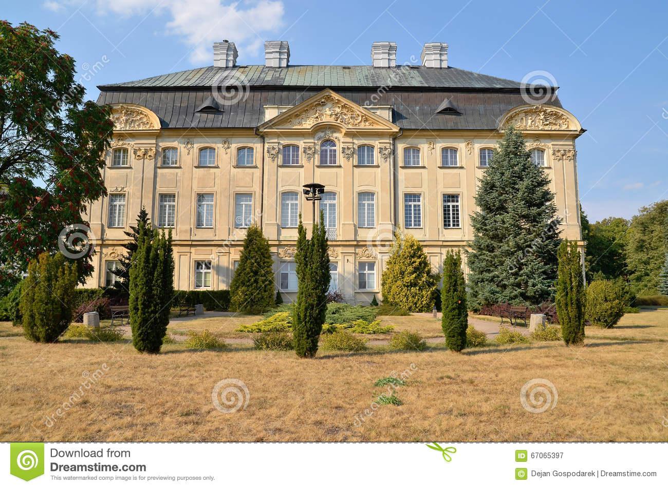 Bishop's Palace Ciazen, Poland Stock Photo.