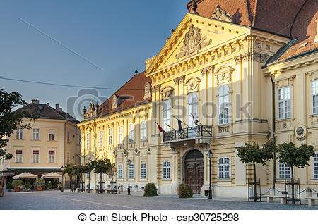 Stock Photographs of Szekesfehervar town in Hungary.