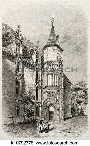 Stock Illustration of Bishop residence k10792778.