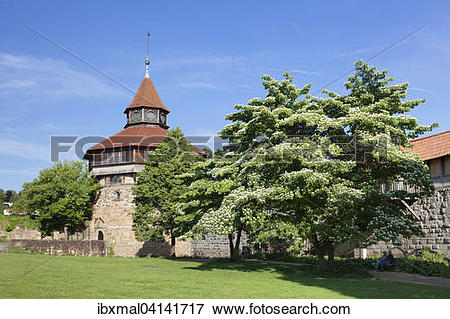 Picture of Dicker Turm tower at the Esslinger Burg, or Esslingen.