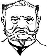 Otto Von Bismarck clip art Free Vector.