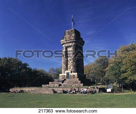 Stock Photo of Low angle view of tower, Bismarck Tower, Munich.