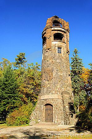 Bismarck Tower (Stuttgart) Stock Photography.